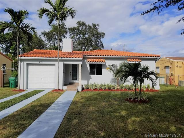 4351 SW 15th St, Coral Gables in Miami-Dade County, FL 33134 Home for Sale